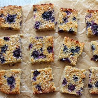 Coconut Blueberry Oat Squares.