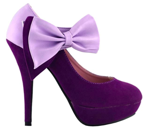 Show Story Bow Ankle Platform Heels