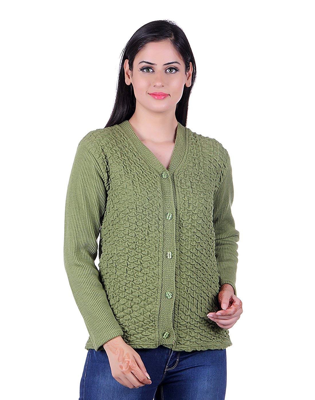 eWools Women's Woolen Self Sweater