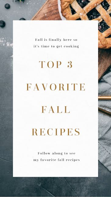 Favorite Fall Recipes - Instagram Story Template
