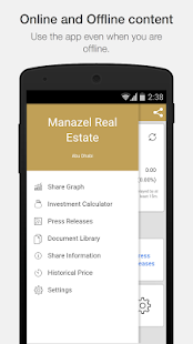 Manazel Investor Relations- screenshot thumbnail