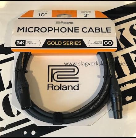 Roland Gold Series 3m XLR/XLR-kabel