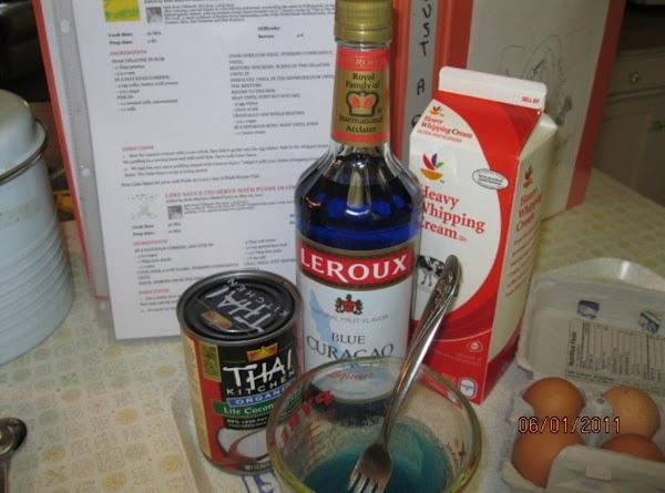 Dissolve 2 Tbs.gelatin in 1/4 cup rum.  In a saucepan combine 3 egg...