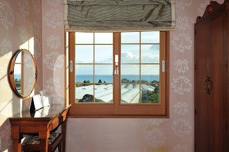 Photo: After viewing the rooms on the second floor and one floor above, Cynthia has picked the lower floor, with a better view. Our bedroom looked like this.