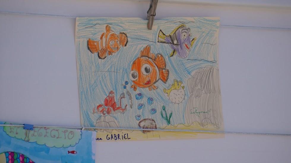Detalle de un dibujo de Nemo dedicado a Gabriel