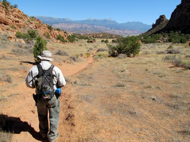 Heading back down Hidden Valley