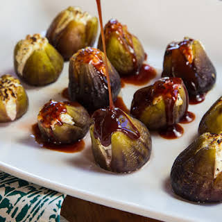 Stuffed Figs with Goat Cheese.