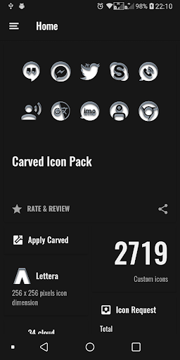Carved icon pack screenshot 8