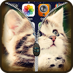Kitten Zipper Lock Screen HD Icon