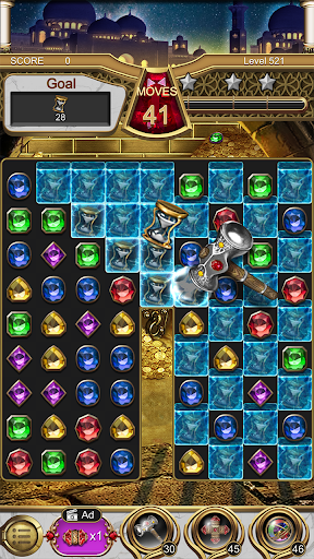 Jewels Magic Lamp : Match 3 Puzzle apkpoly screenshots 7