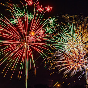 Fireworks Composite by Jim Salvas - Public Holidays July 4th ( fireworss, night, july 4th, independence, colors )