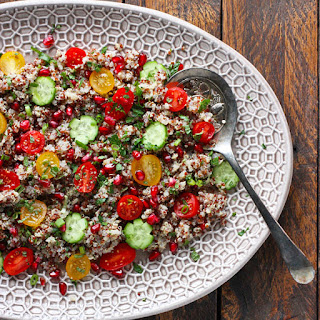 Quinoa Tomato Pomegranate Salad