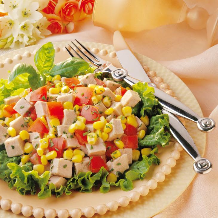 Herbed Pork and Corn Salad Recipe
