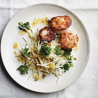 Sea Scallops with Celery Root and Meyer Lemon Salad.