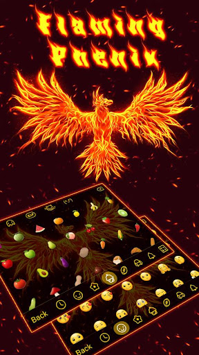 Fire Phoneix Legend Keyboard Theme 4.5 screenshots 3