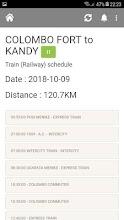 Train Schedule - Sri Lanka screenshot thumbnail