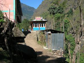 Photo: Teahouses in Chamje (1400 metres)