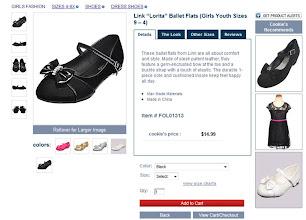 Photo: I loved these little black ballet slippers.