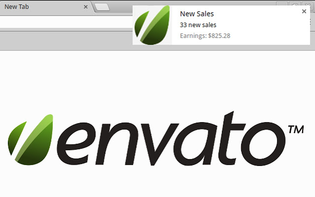 Envato Notifications Sales
