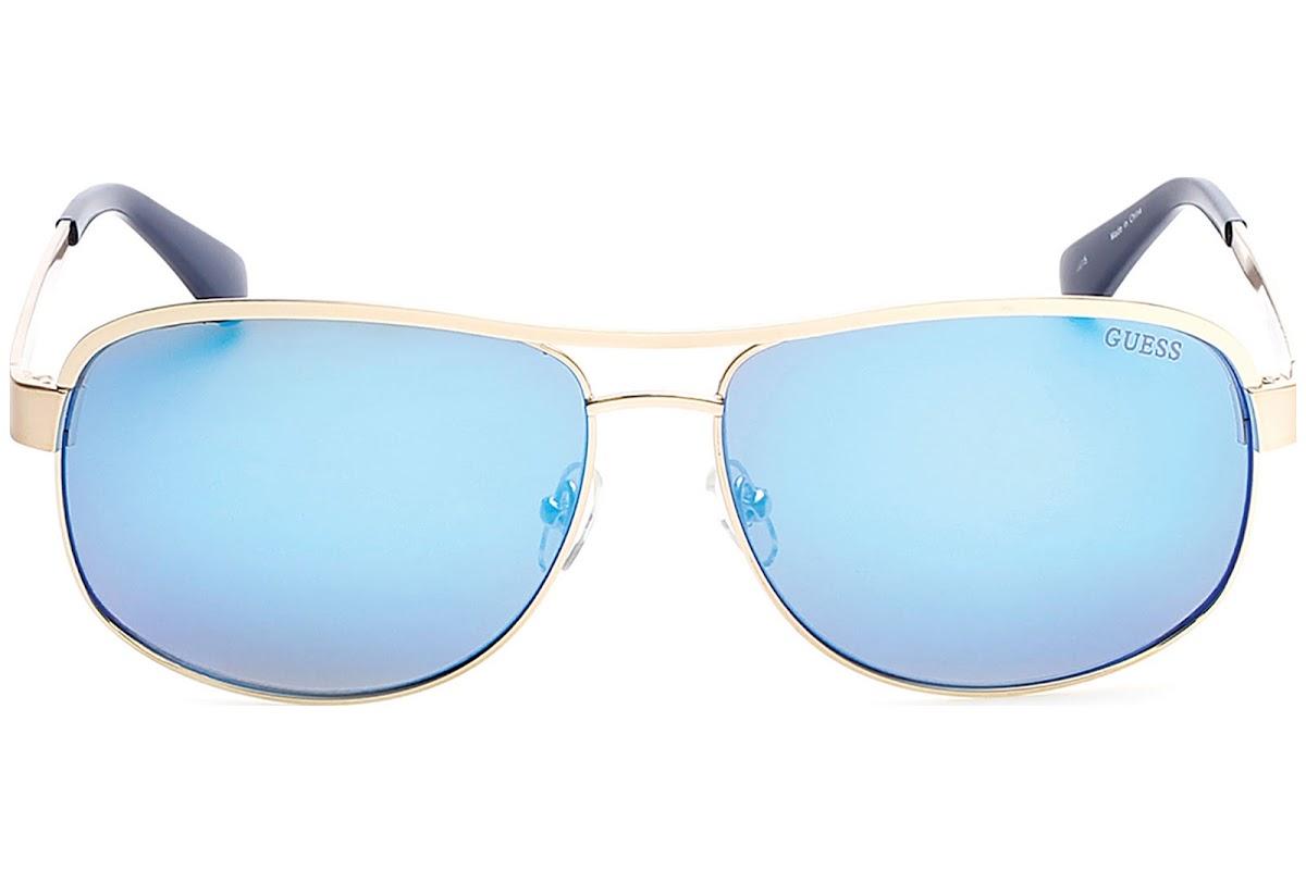 9aec3ce40 Buy Guess GU6874 C63 34X (shiny light bronze / blu mirror) Sunglasses |  Blickers