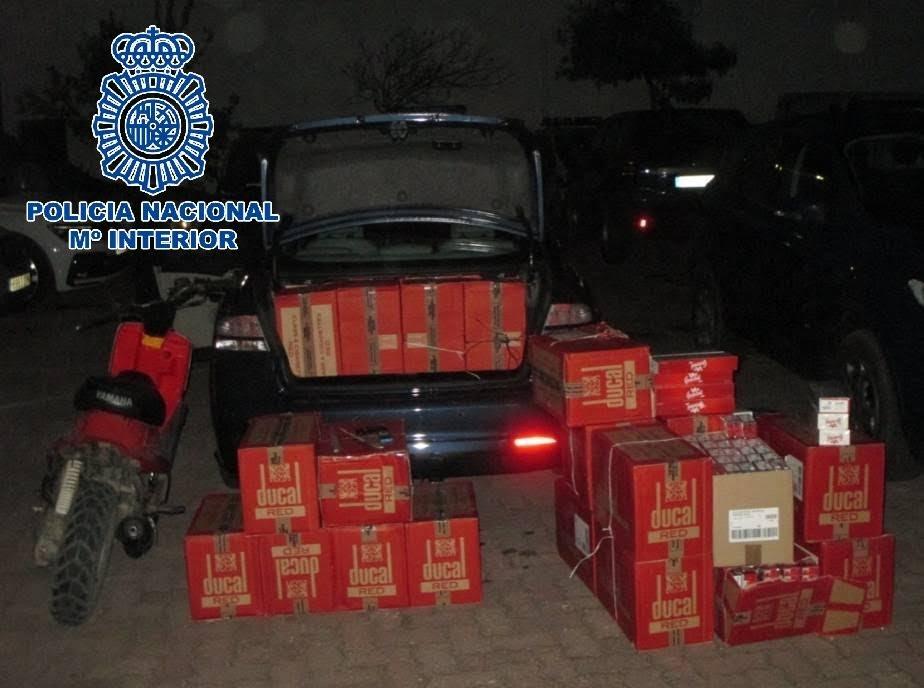 La Policía Nacional interviene más de 8500 cajetillas de tabaco de contrabando