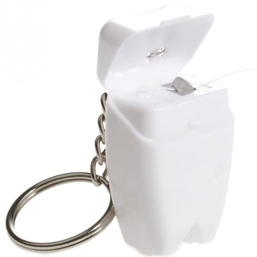 Tooth Shaped Dental Floss Keyring