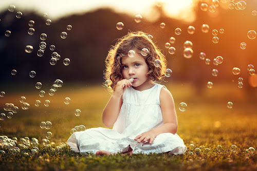 Bubbles by Joseph Kaminski - Babies & Children Child Portraits ( children, sunlight, portrait, portraiture, child, magnificent, gorgeous, sunset, magical, summer, adorable, surreal, golden hour )