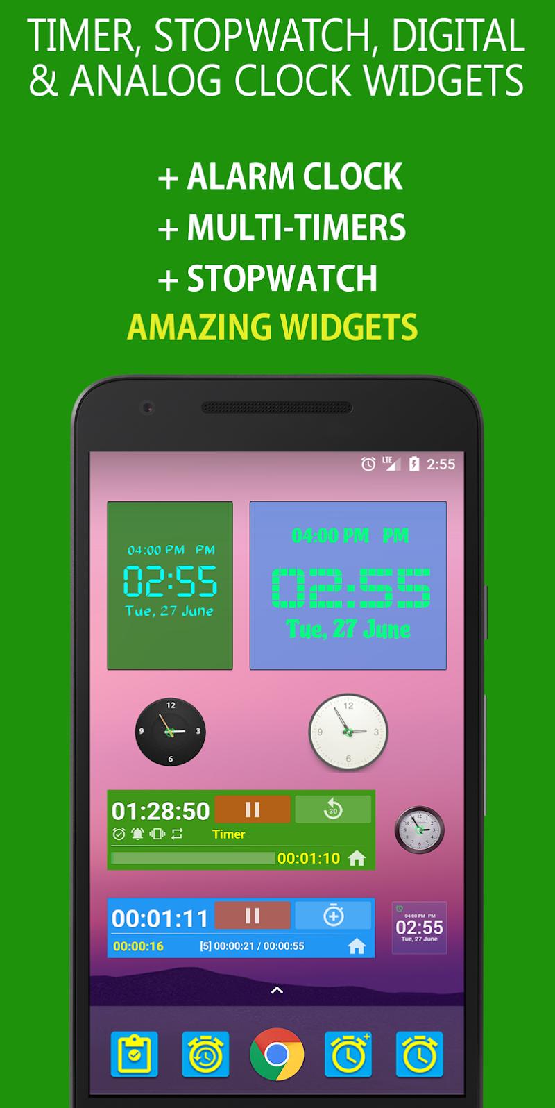 Alarm Clock & Timer & Stopwatch & Tasks & Contacts Screenshot 7