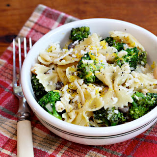 Pasta Bow Ties With Broccoli, White Beans, Pine Nuts And Feta