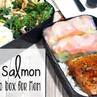 Pan-Fried Teriyaki Salmon Bento Box for Mom.