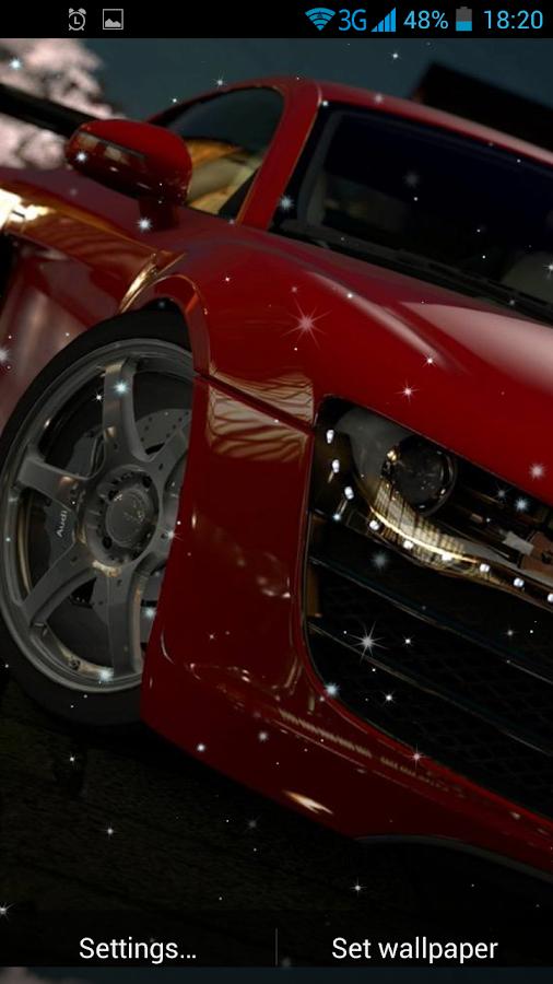 fast cars live wallpaper screenshot