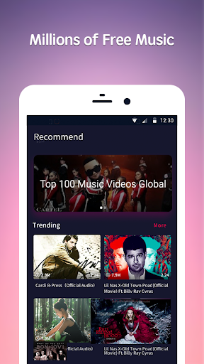 Free Music Song for YouTube - Music Video Player 1.5.5 screenshots 1
