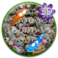 3D Lively Koi Fish Keyboard Theme