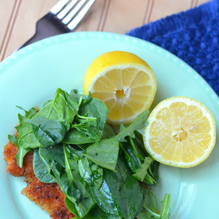 Chicken Milanese with a Spinach and Arugula Salad.