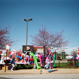 Balloons in Baltimore by Sophia Bruce - City,  Street & Park  Neighborhoods ( urban, balloons, baltimore, city, 35mm )