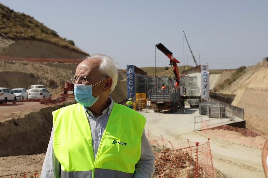 Manuel de la Fuente, subdelegado del Gobierno ante las obras en Los Arejos-Níjar