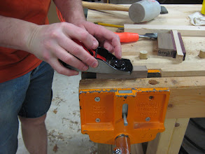 Photo: Jointing the edges for gluing
