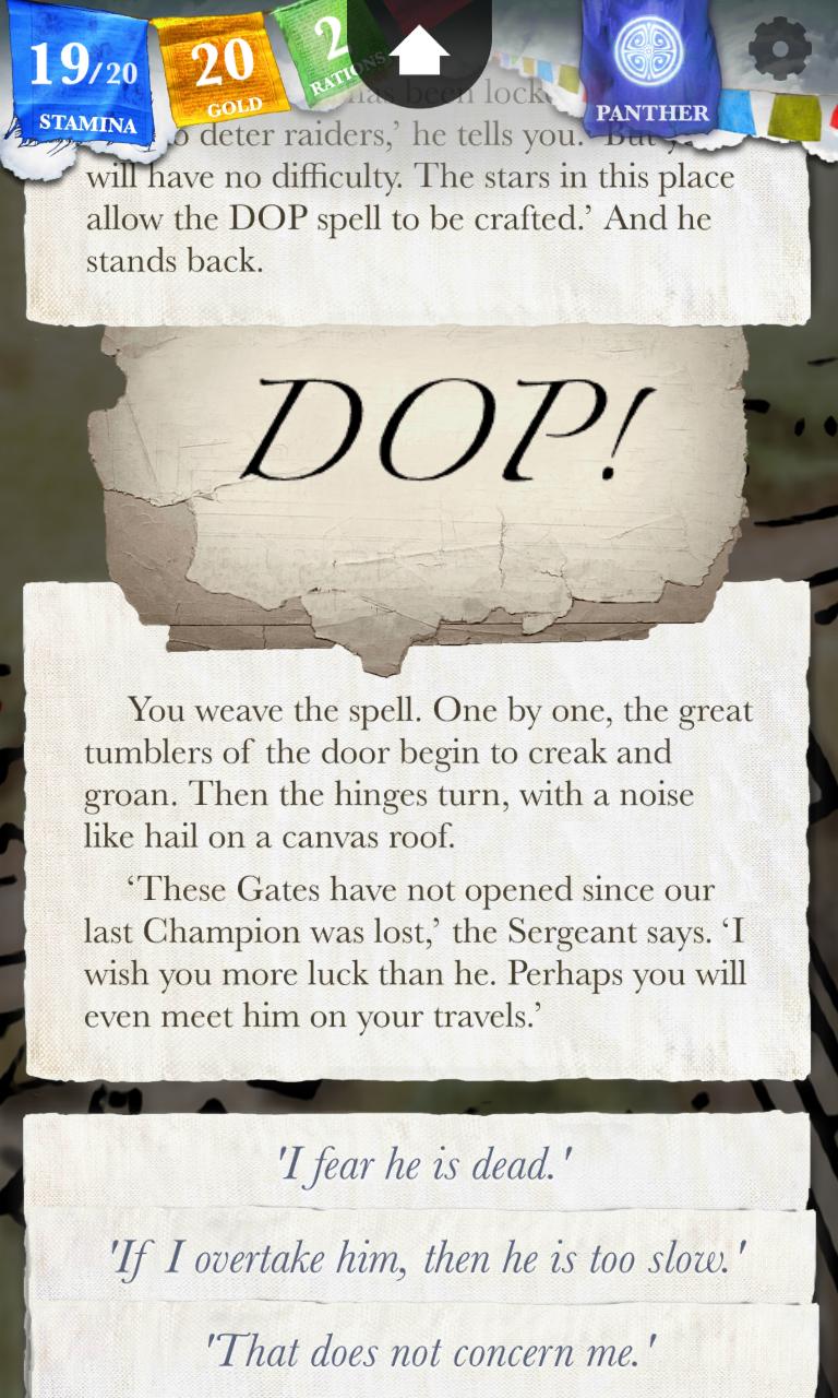 Sorcery! Screenshot 2