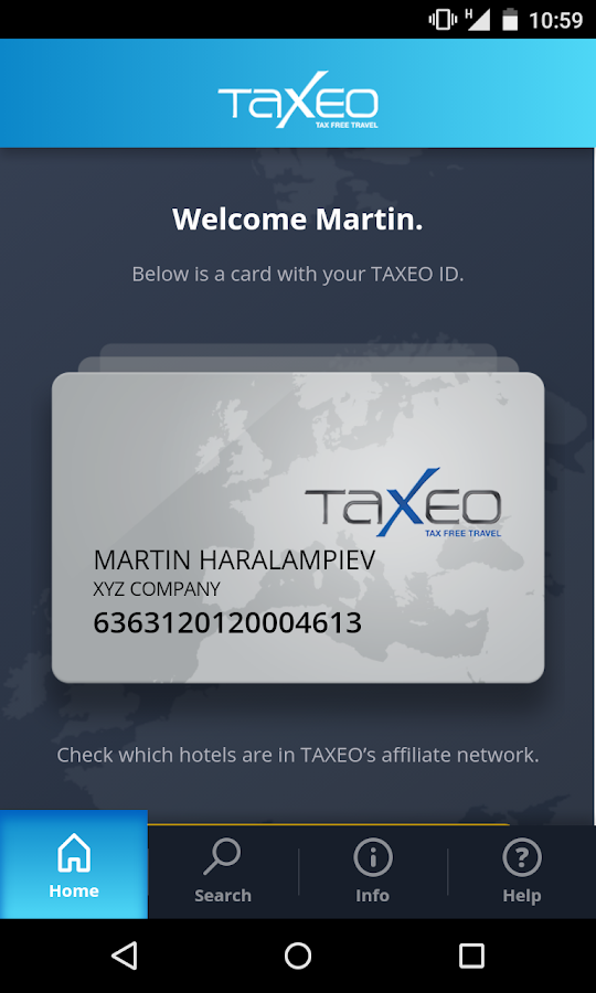 TAXEO Corporate App- screenshot