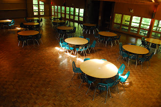 Photo: Tsani Dining Hall, built in 1982 in honor of John M. Hoerner, President of the Atlanta Council of Camp Fire.  'Tsani' is the Cherokee word for 'John.'