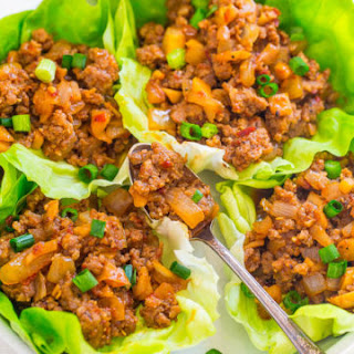 Spicy Pork Lettuce Wraps.