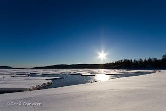 Photo: Winter at Gjerdal by the Drammens Fjord. In the summer this is a popular beach, with lots of people swimming and getting a tan...