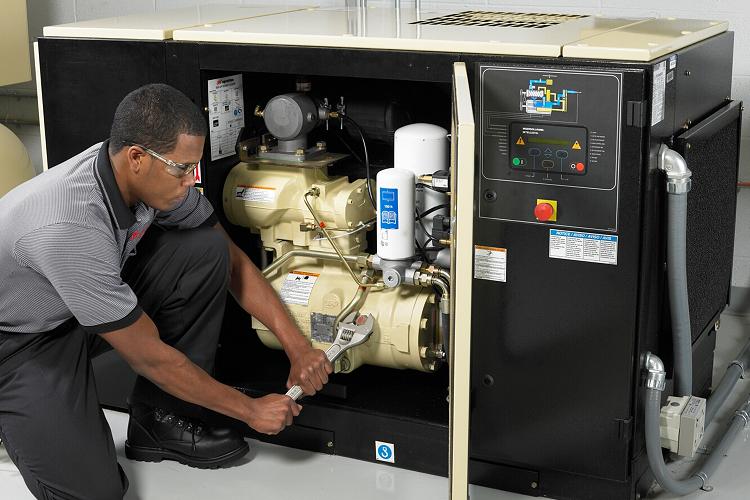 Hình ảnh minh họa: Sửa chữa máy nén khí trục vít