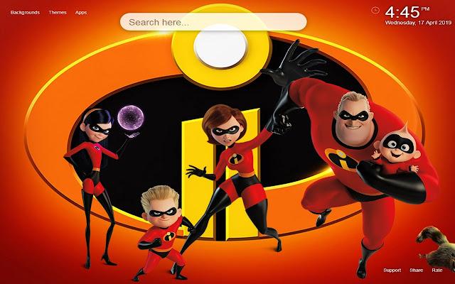 Incredibles 2 HD Wallpaper New Tab