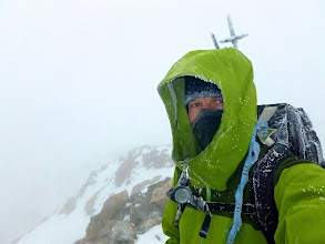 Photo: Self portrait, Ellingwood Point (14,042') 1:32pm, 01/07/2012. My fifth time on Ellingwood's summit. First time in winter