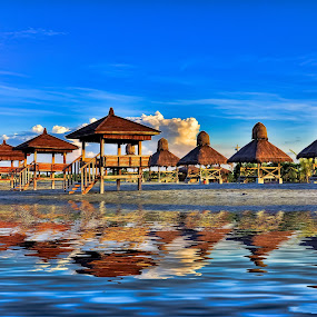 Beach Cottages by Eshwer Gonzales - Landscapes Travel