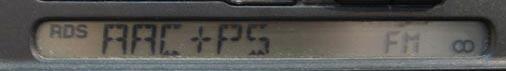 Photo: Servisni menu vysilane pres mikroFM transmiter s RDS enkoderem do Vaseho FM autoradia s RDS. V tomto pripade je zde informace, ze dana DRM stanice vysila v MP4AAC+v2, tedy v AAC+ = SBR a v2 = Parametric Stereo.