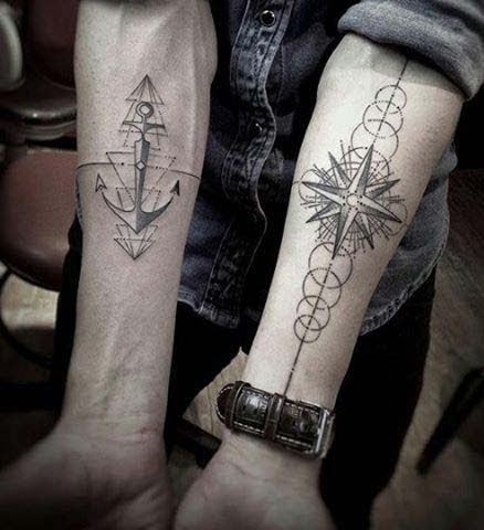 0ab6b4e5f15b8 55 Amazing Nautical Star Tattoos With Meanings For Men And Women