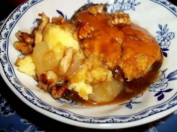 Apple Spoon Cake & Sauce ~ Gram's Recipe