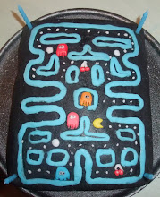 Photo: An adapted Pacman style cake
